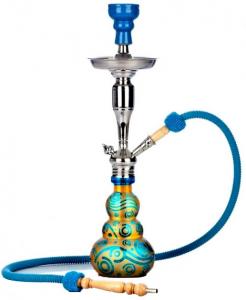 Schöne moderne Shisha in blau